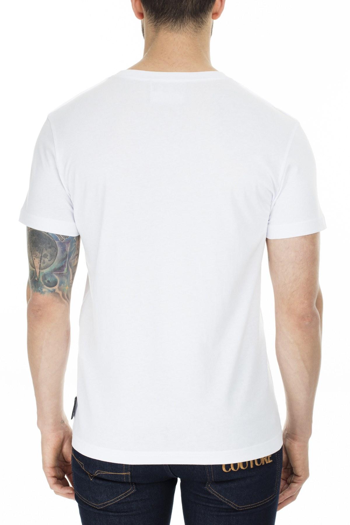 Versace Jeans Couture Slim Fit T Shırt Erkek T Shirt B3GVB7TS 30319003 BEYAZ
